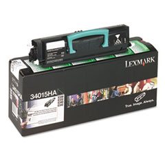 LEX34015HA - Lexmark 34015HA High-Yield Toner, 6000 Page-Yield, Black