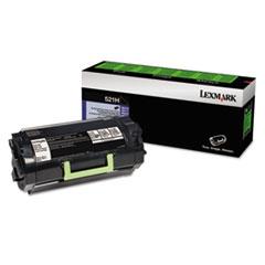LEX52D1H00 - Lexmark 52D1H00 (LEX-521H) Toner, 25000 Page-Yield, Black