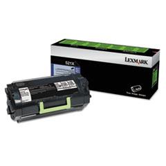 LEX52D1X00 - Lexmark 52D1X00 (LEX-521X) Toner, 45000 Page-Yield, Black