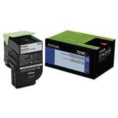 LEX70C10K0 - Lexmark 70C10K0 Toner (LEX-701K) 1000 Page-Yield, Black