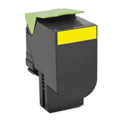 LEX70C1HY0 - Lexmark 70C1HYO (LEX-701HY) High-Yield Toner, 3000 Page-Yield, Yellow