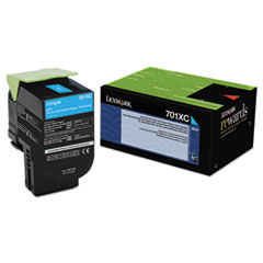 LEX70C1XC0 - Lexmark 70C1XC0 (LEX-701XC) Extra High-Yield Toner, 4000 Page-Yield, Cyan