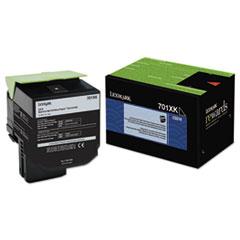 LEX70C1XK0 - Lexmark 70C1XKO (LEX-701XK) Extra High-Yield Toner, 8000 Page-Yield, Black