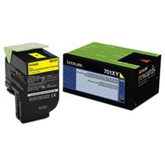 LEX70C1XY0 - Lexmark 70C1XY0 (LEX-701XY) Extra High-Yield Toner, 4000 Page-Yield, Yellow