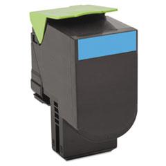 LEX80C1XC0 - Lexmark 80C1XC0 Toner, 4000 Page-Yield, Cyan