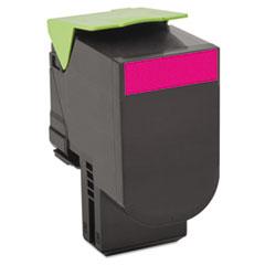 LEX80C1XM0 - Lexmark 80C1XM0 Toner, 4000 Page-Yield, Magenta