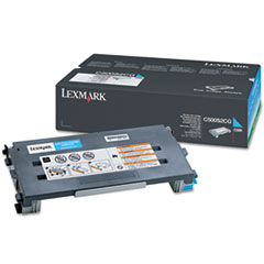 LEXC500S2CG - Lexmark C500S2CG Toner, 1500 Page-Yield, Cyan