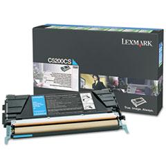 LEXC5200CS - Lexmark C5200CS Toner, 1500 Page-Yield, Cyan