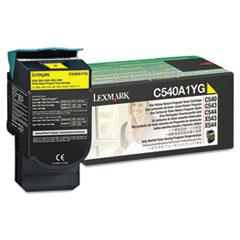 LEXC540A1YG - Lexmark C540A1YG Toner, 1000 Page-Yield, Yellow