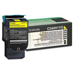 LEXC540H1YG - Lexmark C540H1YG High-Yield Toner, 2000 Page-Yield, Yellow
