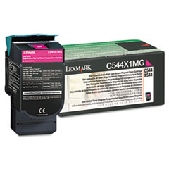 LEXC544X1MG - Lexmark C544X1MG Extra High-Yield Toner, 4000 Page-Yield, Magenta