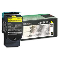 LEXC544X1YG - Lexmark C544X1YG Extra High-Yield Toner, 4000 Page-Yield, Yellow