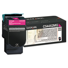 LEXC544X2MG - Lexmark C544X2MG Extra High-Yield Toner, 4,000 Page Yield, Magenta
