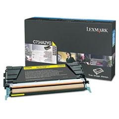 LEXC734A2YG - Lexmark C734A2YG Toner, 6000 Page-Yield, Yellow