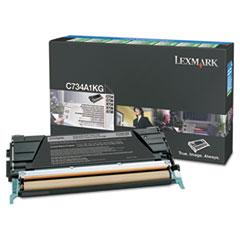 LEXC746H1KG - Lexmark C746A1KG High-Yield Toner, 12000 Page-Yield, Black