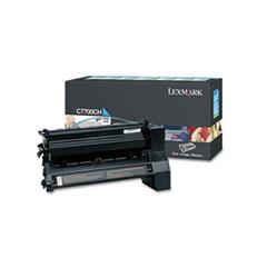 LEXC7700CH - Lexmark C7700CH High-Yield Toner, 10000 Page-Yield, Cyan