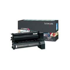 LEXC7700MH - Lexmark C7700MH High-Yield Toner, 10000 Page-Yield, Magenta