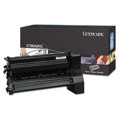 LEXC780A2KG - Lexmark C780A2KG Toner, 6000 Page-Yield, Black
