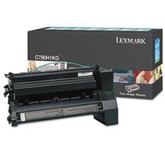 LEXC780H1KG - Lexmark C780H1KG High-Yield Toner, 10000 Page-Yield, Black