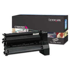 LEXC780H2MG - Lexmark C780H2MG High-Yield Toner, 10,000 Page-Yield, Magenta