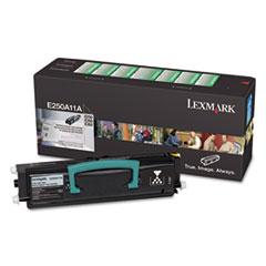 LEXE250A11A - Lexmark E250A11A Toner, 3500 Page-Yield, Black