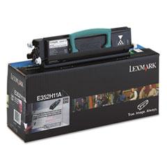 LEXE352H11A - Lexmark E352H11A High-Yield Toner, 9000 Page-Yield, Black