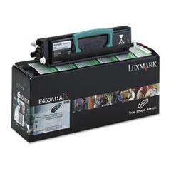 LEXE450A11A - Lexmark E450A11A Toner, 6000 Page-Yield, Black