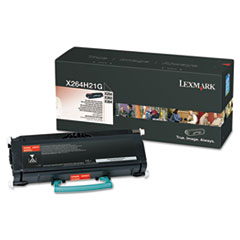 LEXX264H21G - Lexmark X264H21G High-Yield Toner, 9000 Page-Yield, Black