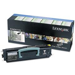 LEXX340A11G - Lexmark X340A11G Toner, 2,500 Page-Yield, Black