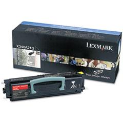 LEXX340A21G - Lexmark X340A21G Toner, 2500 Page-Yield, Black