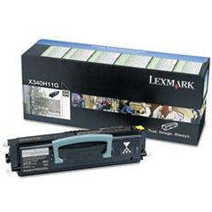 LEXX340H11G - Lexmark X340H11G High-Yield Return Prgrm Toner, 6,000 Pg-Yld, Black