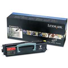 LEXX340H21G - Lexmark X340H21G High-Yield Toner, 21000 Page-Yield, Black