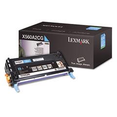 LEXX560A2CG - Lexmark X560A2CG Toner, 4000 Page-Yield, Cyan