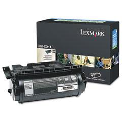 LEXX644X11A - Lexmark X644X11A Extra High-Yield Toner, 32000 Page-Yield, Black