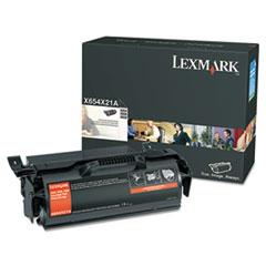 LEXX654X21A - Lexmark X654X21A Extra High-Yield Toner, 36,000 Page-Yield, Black