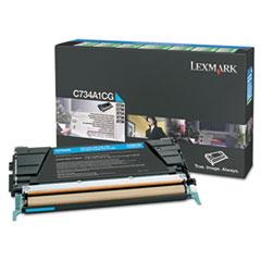 LEXX748H1CG - Lexmark X748H1CG High-Yield Toner, 10000 Page-Yield, Cyan
