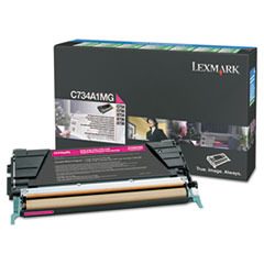 LEXX748H1MG - Lexmark X748H1MG High-Yield Toner, 10000 Page-Yield, Magenta
