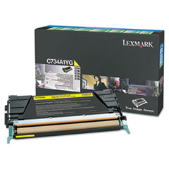 LEXX748H1YG - Lexmark X748H1YG High-Yield Toner, 10000 Page-Yield, Yellow