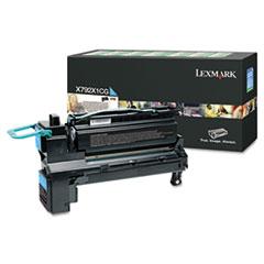 LEXX792X1CG - Lexmark X792X1CG Extra High-Yield Toner, 20,000 Page-Yield, Cyan