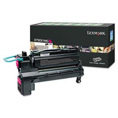 LEXX792X1MG - Lexmark X792X1MG Extra High-Yield Toner, 20,000 Page-Yield, Magenta