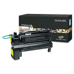 LEXX792X2YG - Lexmark X792X2YG Extra High-Yield Toner, 20,000 Page-Yield, Yellow