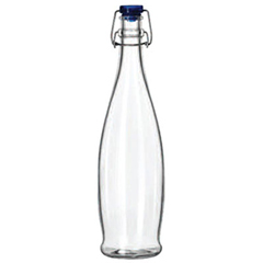 LIB13150020 - Glass Water Bottle with Wire Bail Lid