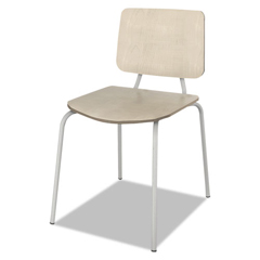 LITTR508OAT - Linea Italia® Trento Line Sienna Stacking Chair