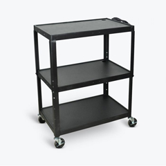 LUXAVJ42XL - LuxorAdjustable Height Large Steel AV Cart