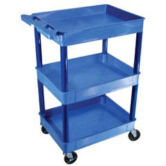 LUXBUSTC111BU - Luxor - 3-Shelf Tub Cart