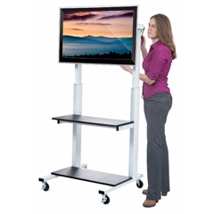 LUXCLCD - LuxorCrank Adjustable Flat Panel TV Cart