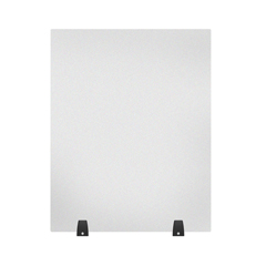 LUXDIVTT-2430F - Luxor - Acrylic Sneeze Guard Desk Divider - 24 x 30 Tabletop, Frosted