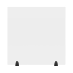 LUXDIVTT-3030C - Luxor - 30 x 30 Clear Acrylic Divider w/ 2 Table Top Clamps