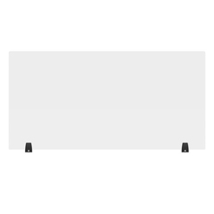 LUXDIVTT-4824C - Luxor - 48 x 24 Clear Acrylic Divider w/ 2 Table Top Clamps