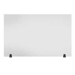 LUXDIVTT-4830F - Luxor - Acrylic Sneeze Guard Desk Divider - 48 x 30 Tabletop, Frosted